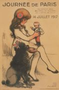VINTAGE FRENCH WW1 POSTER - FUNDRAISER JOURNEE PARIS 1917